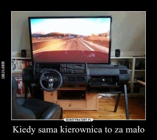 demotywator : Prawdziwy kierowca!