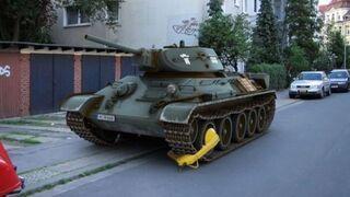 Blokada na gonsienicy czołgu