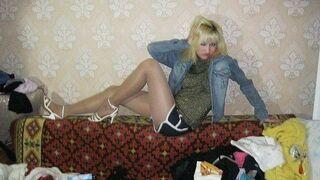 Modelka z bałaganem
