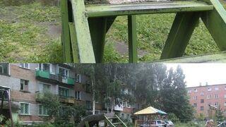 Sadystyczna zjeżdżalnia dla dzieci, z betonu