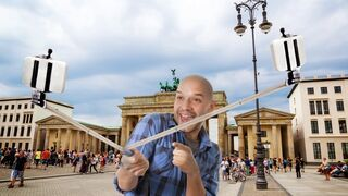 Podwójny selfie-stick