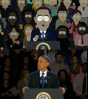 Znajdź różnice - Obama i South Park