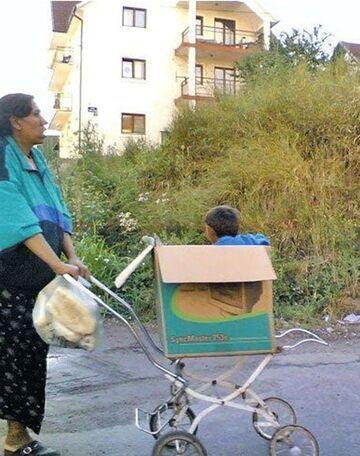 Cygański wózek dziecięcy
