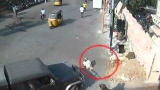 Przejechał żebraka siedzącego na ulicy
