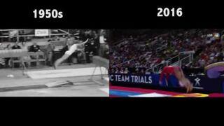 Porównanie gimnastyki - 1960 Vs 2016