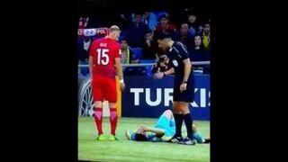 Cudowne uzdrowienie kazachskiego zawodnika podczas meczu Polska - Kazachstan