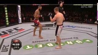 """UFC kibic rozbawił publiczność """"Kick him in the dick"""""""