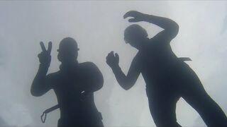Freediving na zatopionych koparkach w Jaworznie
