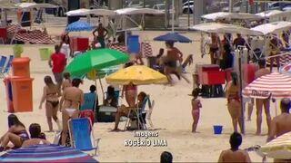 Złodziej na plaży w Brazylii