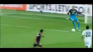 Victor Valdes Fail Vs Real Madrid F.C.Barcelona di Maria goal