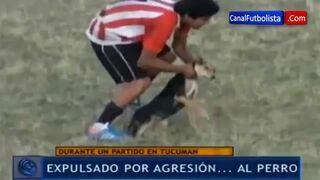 Piłkarz z Argentyny rzucił psem!