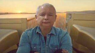 Jarosław Kaczyński w reklamie VOLVO