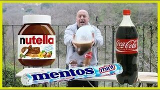 Coca cola + Nutella + Mentos + Prezerwatywa
