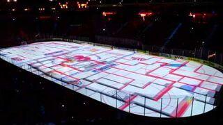Wspaniały pokaz animacji na boisku hokejowym