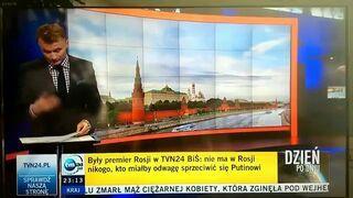 Wpadka na żywo - TVN24 chciał reklamować swój portal i....