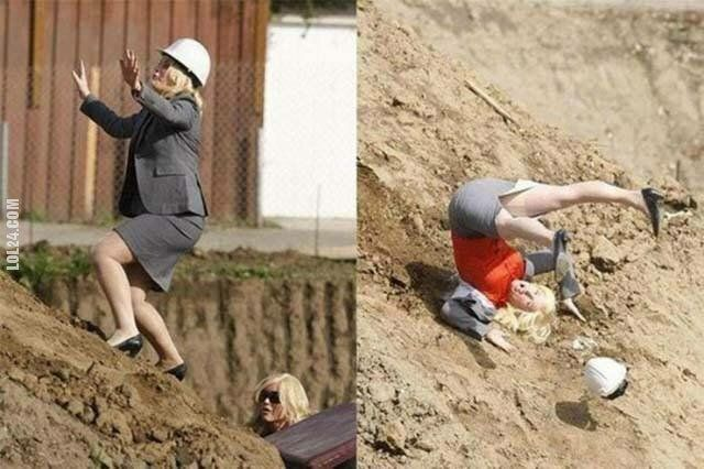 kobieta : Pani dyrektor na budowie. Tuż przed...