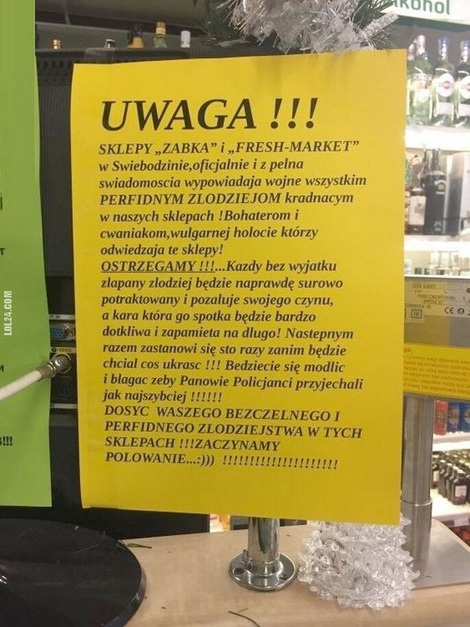napis, reklama : Żabka i Freshmarket wypowiadają wojnę złodziejom