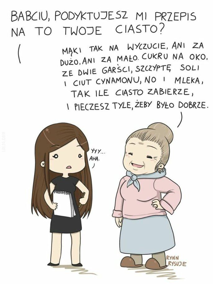 komiks : Przepis od babci na ciasto