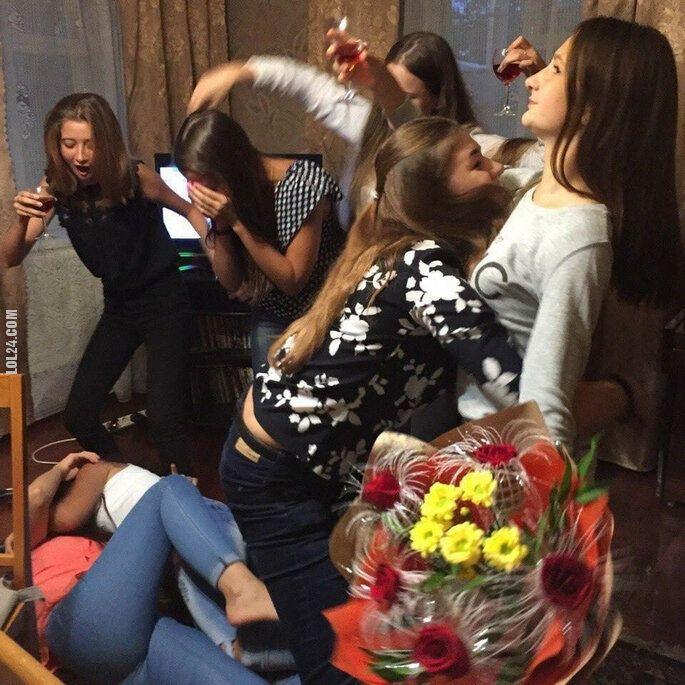po imprezie : Dziewczęcy wieczór