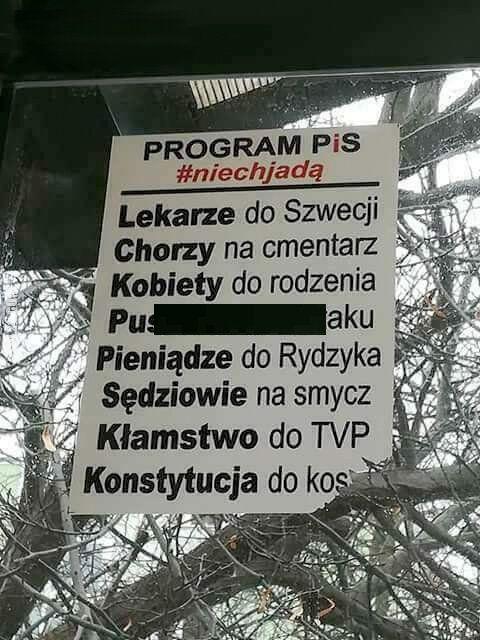 polityczna : Program PiS #niechjadą