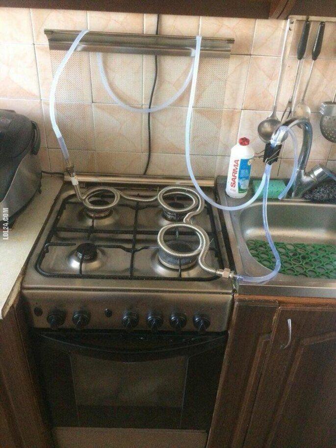 technologia : Podgrzewacz do wody z kuchenki gazowej