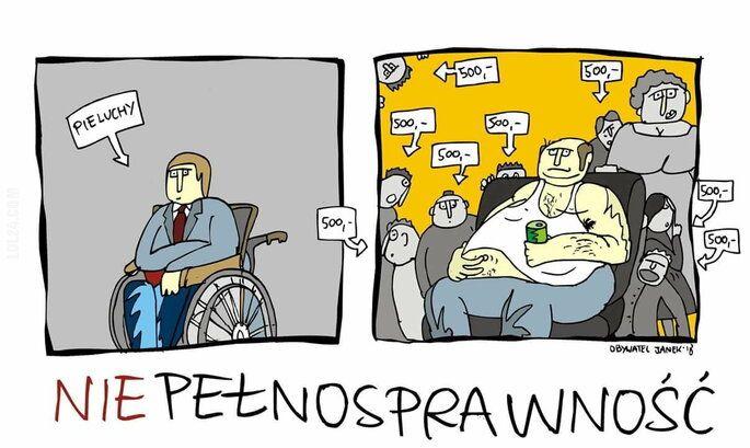 satyra : Niepełnosprawność