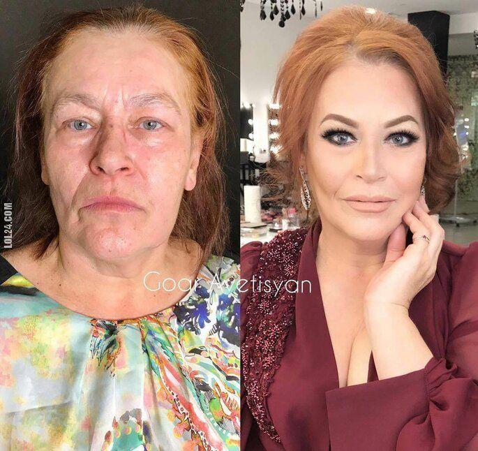 złudzenie : Przed i po. Make-up dla dojrzałych kobiet