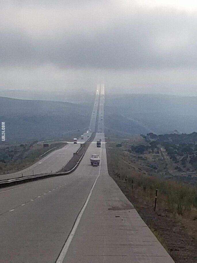 ekstremalna : Autostrada I-80 w Wyoming