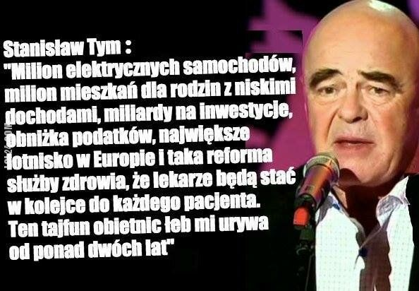 """polityka : Stanisław Tym """"Tajfun obietnic"""""""