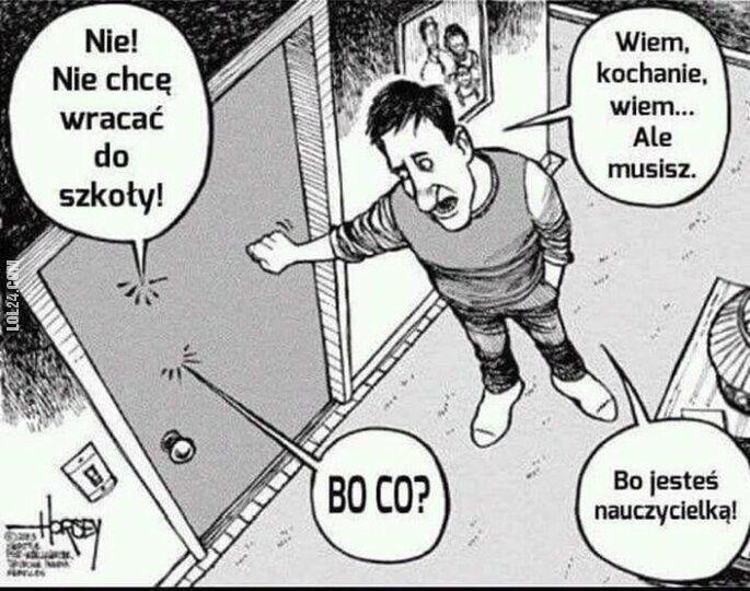 komiks : Nie! Nie chcę wracać do szkoły!