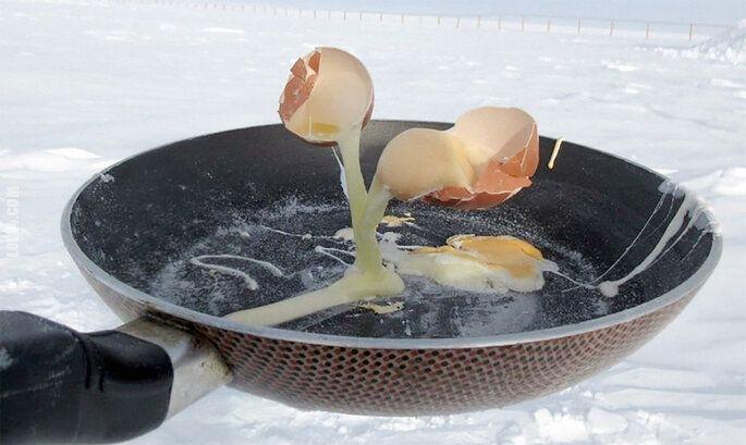 rzeźba, figurka : Jajecznica przy -60°C