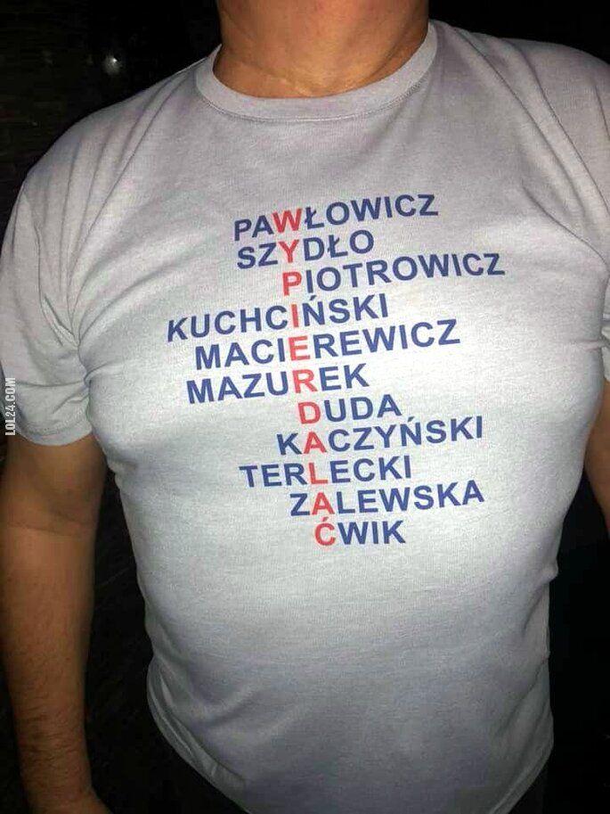 """polityczna : """"WYPIERDALAĆ"""""""