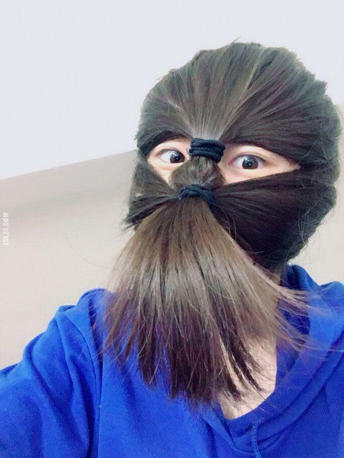 kobieta : Fryzura ninja