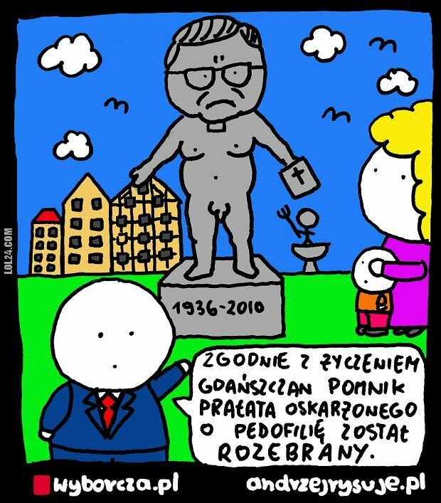 satyra : Pomnik prałata