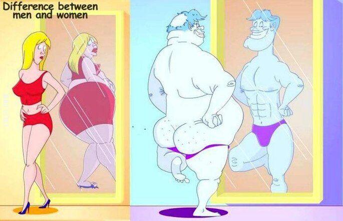 rysunkowa : Co widzimy w lustrze...