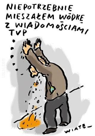 satyra : Wódka i wiadomości TVP