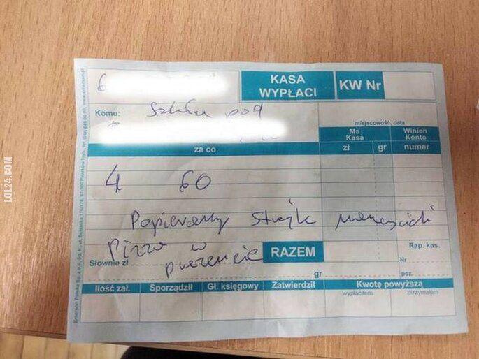 napis, reklama : Rachunek za pizze dla protestujących nauczycieli