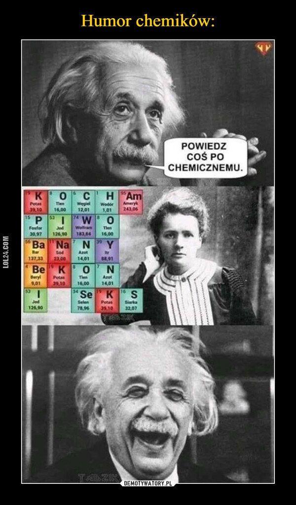 demotywator : Poczucie humoru chemików