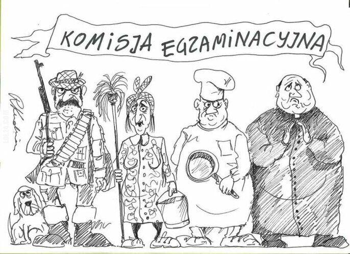 satyra : Komisja egzaminacyjna