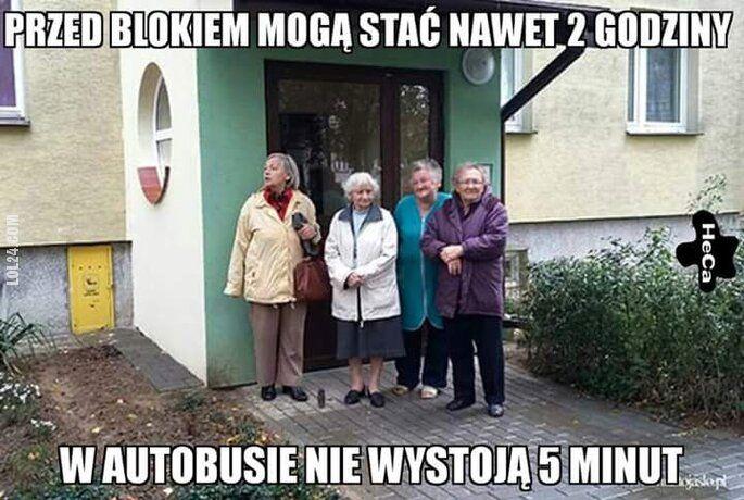mem : Staruszki w autobusie