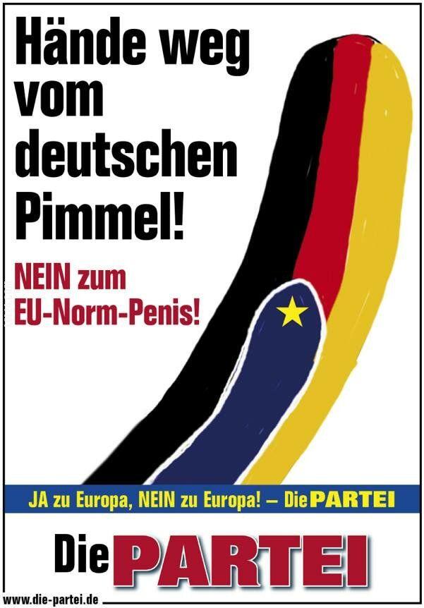 polityka : Ręce przecz od niemieckiego filutka! Nie dla unijnych norm penisa.