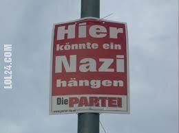 polityczna : Tu mógłby wisieć jakiś nazista