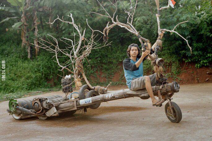 motoryzacyjna : Indonezyjskie Vespa mutant