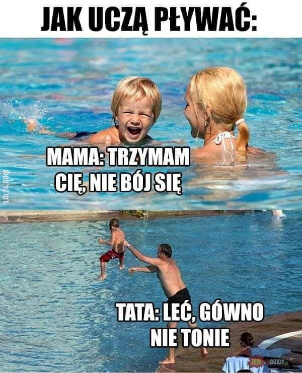 mem : Nauka pływania