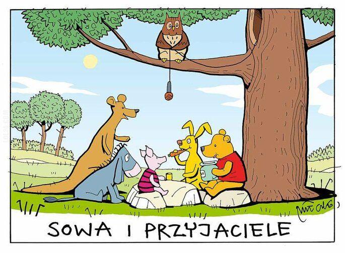 satyra : Sowa i przyjaciele