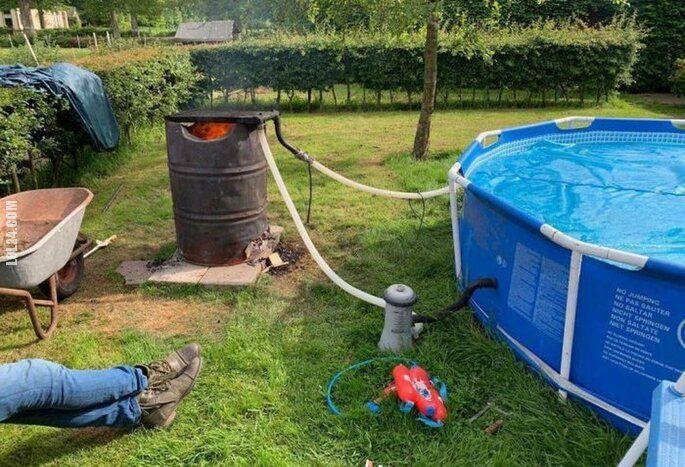 technologia : Podwórkowy ogrzewacz pasenu