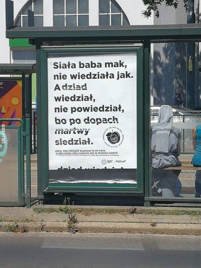 napis, reklama : Dopalacze to nie bajka