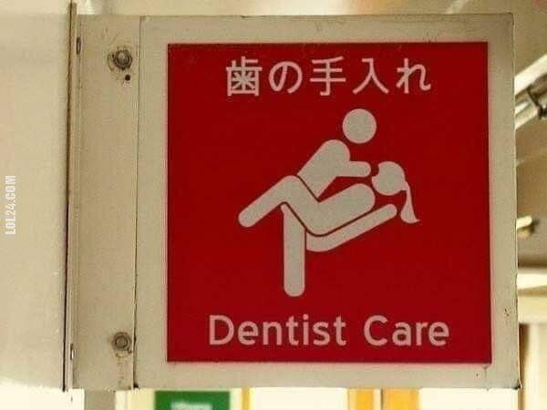 napis, reklama : Opieka dentystyczna