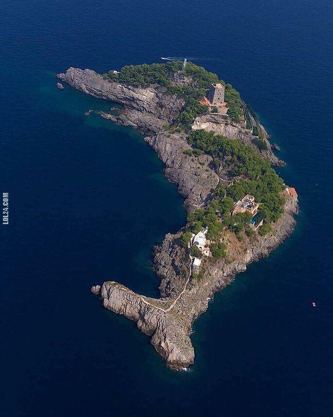 złudzenie : Gallo Lungo wyspa  w kształcie delfina