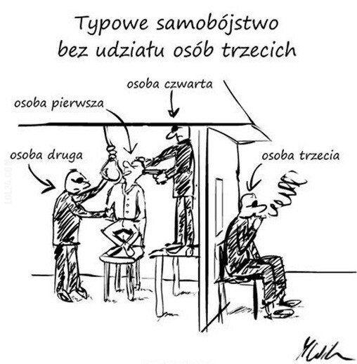 satyra : Samobójstwo bez udziału osób trzecich
